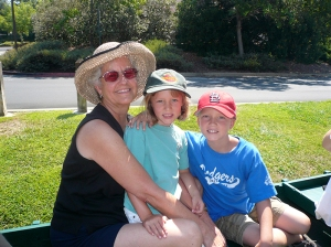 Gramma Trisha, Zacky, and Gracie-bug. 2008